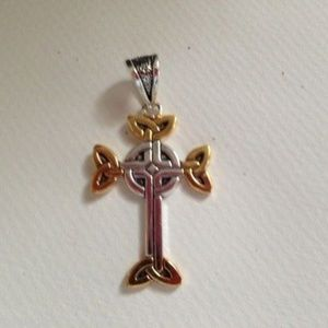 Celtic Cross Pendant Triple plated New Irish theme